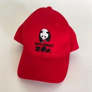 Men's vintage San Diego Zoo adjustable cap red
